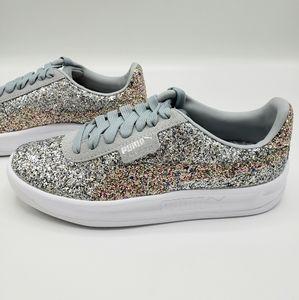 Puma Glitz California Sneaker Silver Glitt…